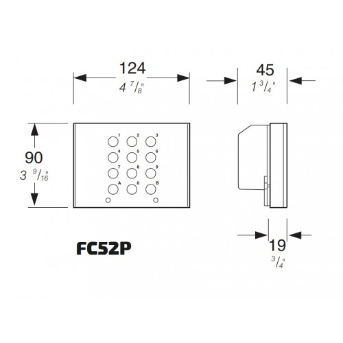 Moduł kodujący z 8 przyciskami CD4138PL